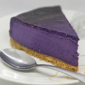 Ube Cheesecake Slice