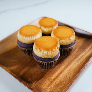 all things ube flan cupcakes