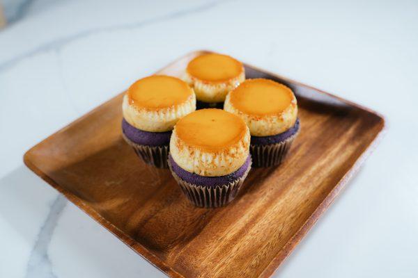 all things ube flan cupcakes